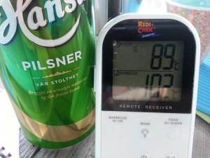 Steketermometer og øl